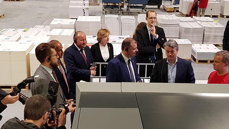 Ministro pirmininko vizitas spaustuvėje KOPA