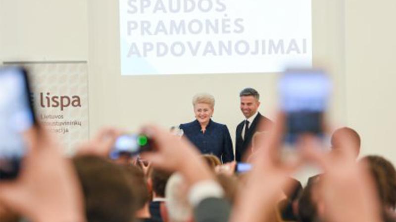 """""""Spaudos Atlantas"""" įteiktas LR Prezidentei Daliai Grybauskaitei, apdovanoti geriausi spaustuvininkai ir studentai!"""